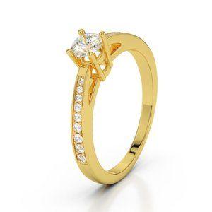 Sparkling prong set 1.50 ct diamonds Engagement ri